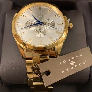 Joseph Abboud watch, all gold with the navy blue